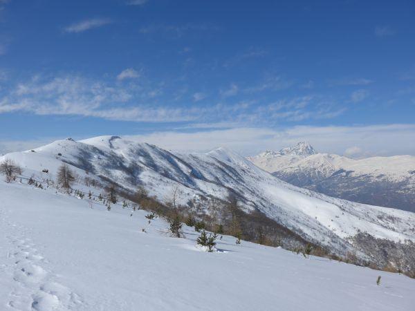 Monte Cornet, Monte Birrone e Monviso dal Monte della Ciabra