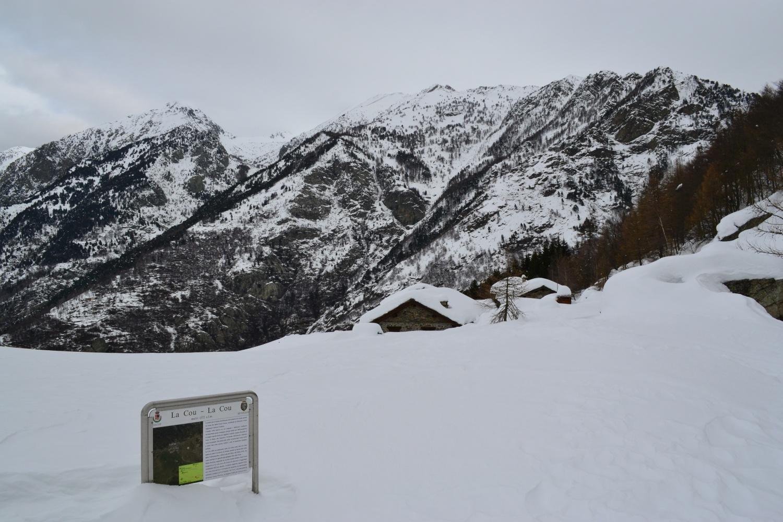 arrivo al Colle di La Cou (1369 m)