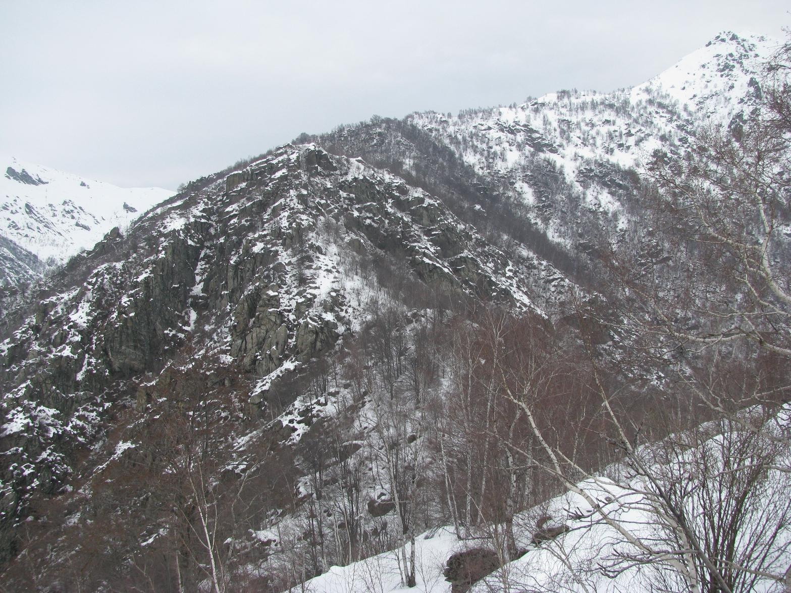 Il Deiro Nero visto dai pressi di quota 1293