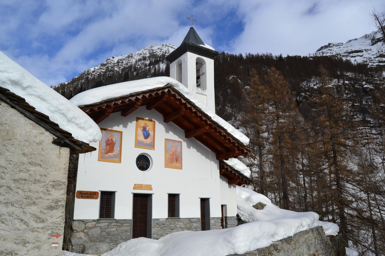 la chiesetta  della Madonna della Neve