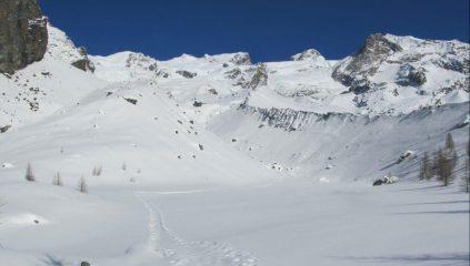 Panorama sul Gruppo del Monte Rosa