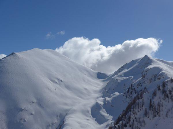 Monte Bourel e Colle di Marchiana dalla cima