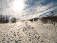 La pista da sci alla partenza