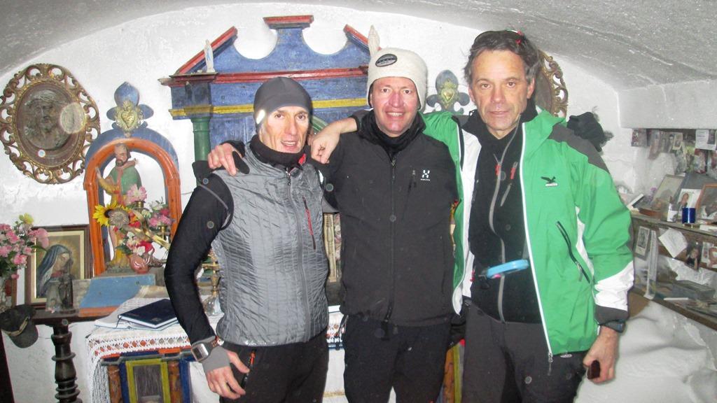 I tre compagni in vetta