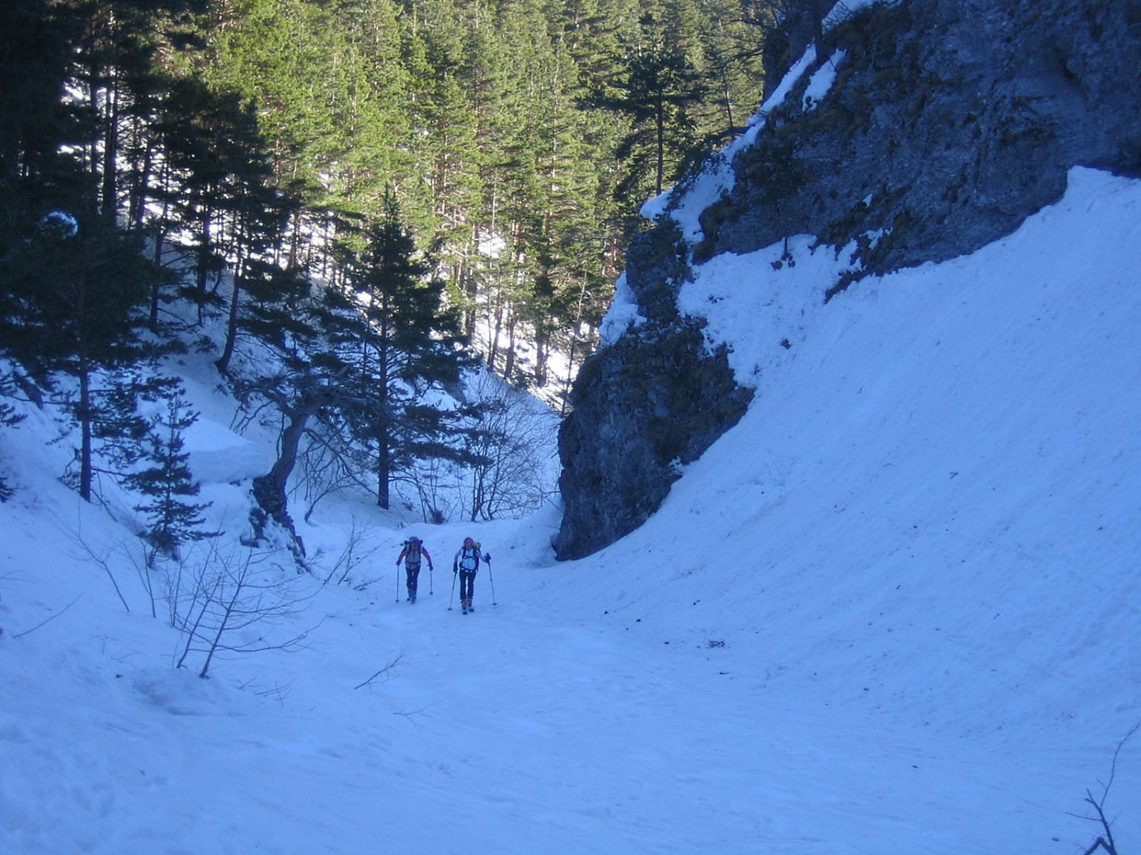 il tratto incassato del vallone di Caramagne