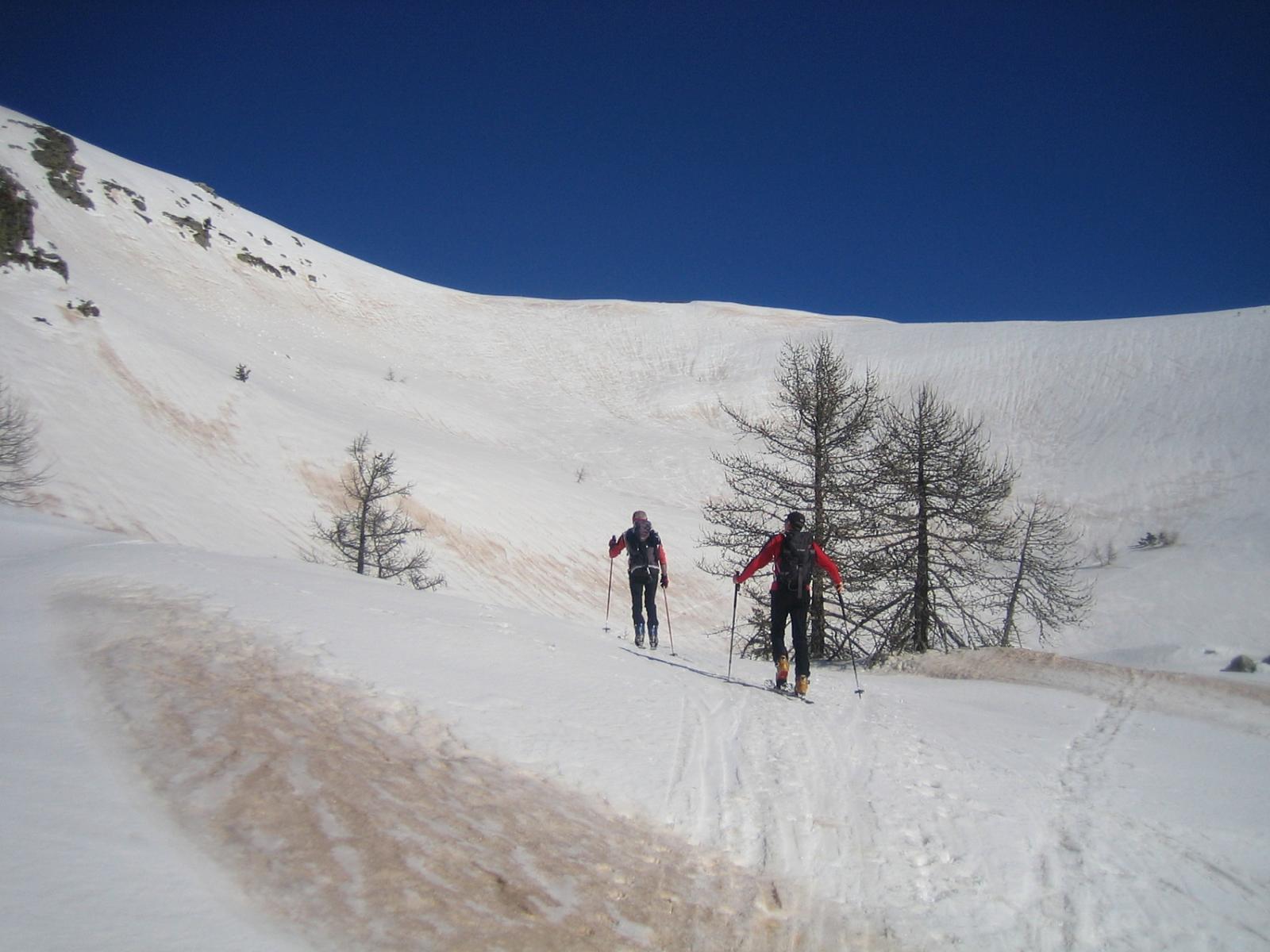 il pendio per raggiungere il Fort de Giaure  posto a 2254 m.
