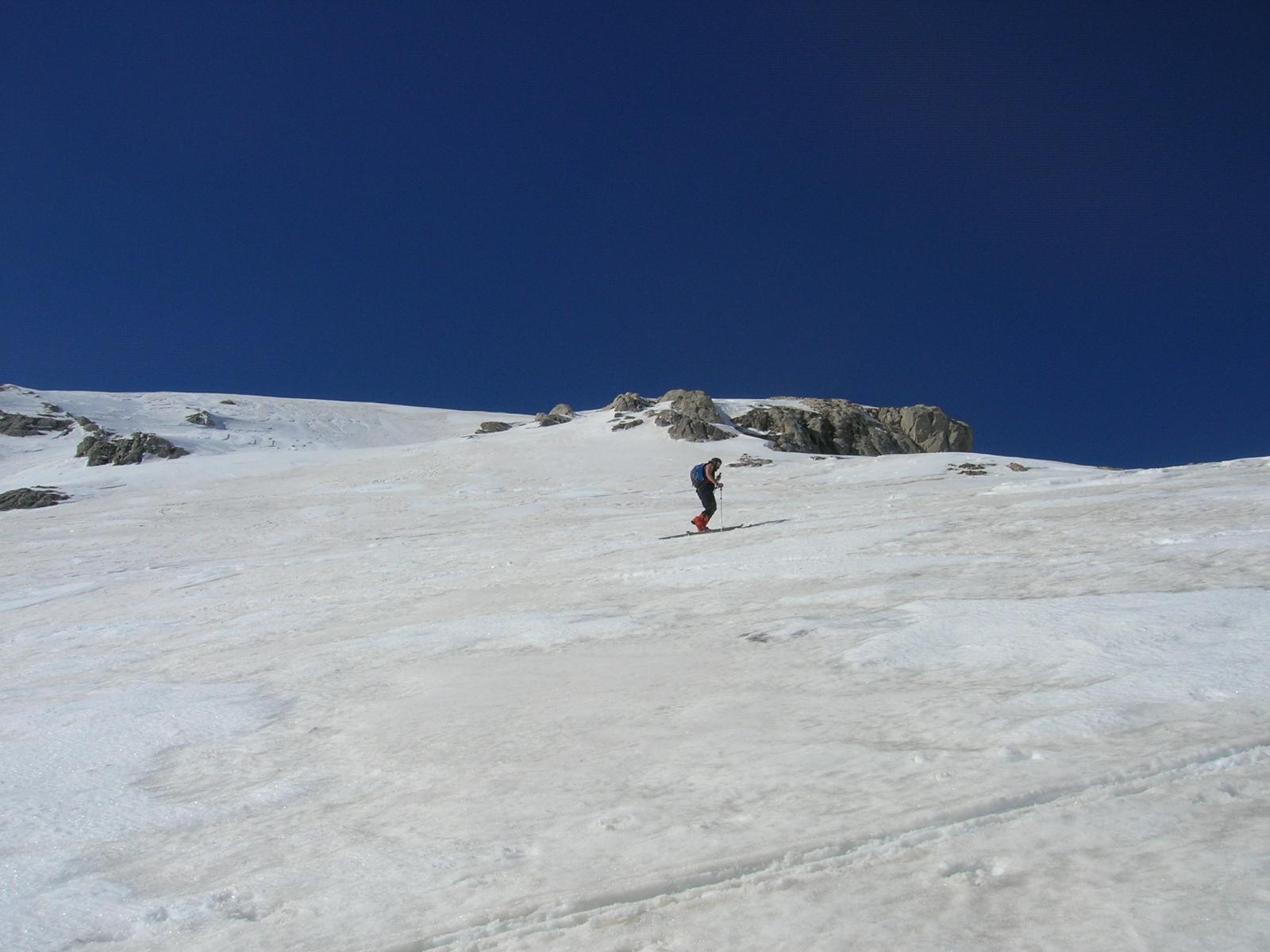 Lungo i pendii orientali della cima delle Saline
