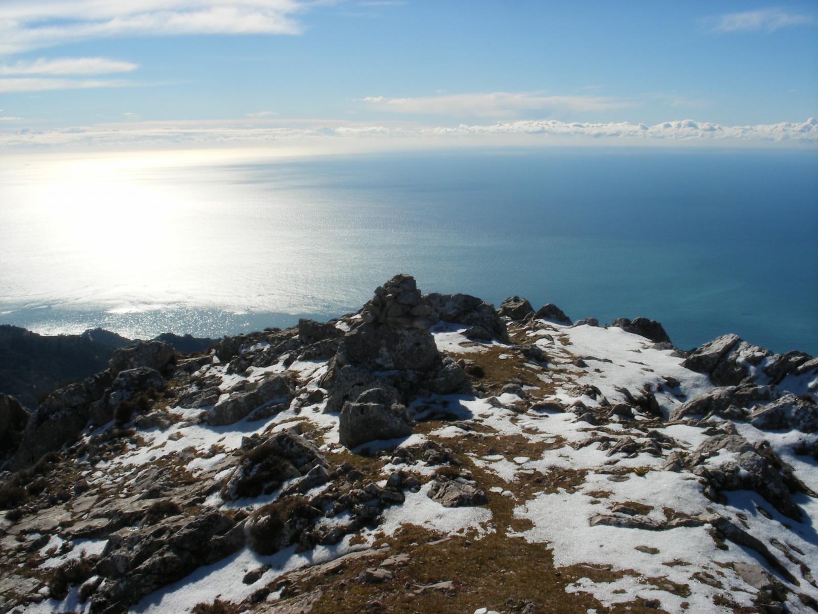 il mare dalla Cima Longoira