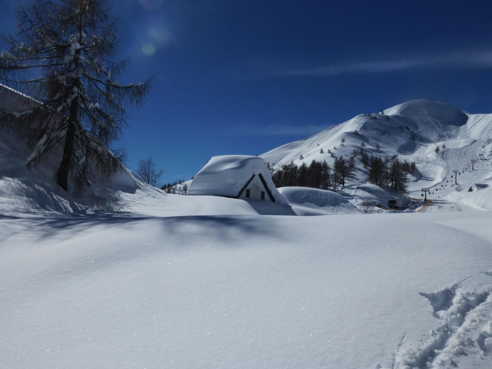 Da confrontarsi con la già abbondante neve delle fote di 2 settimane fa