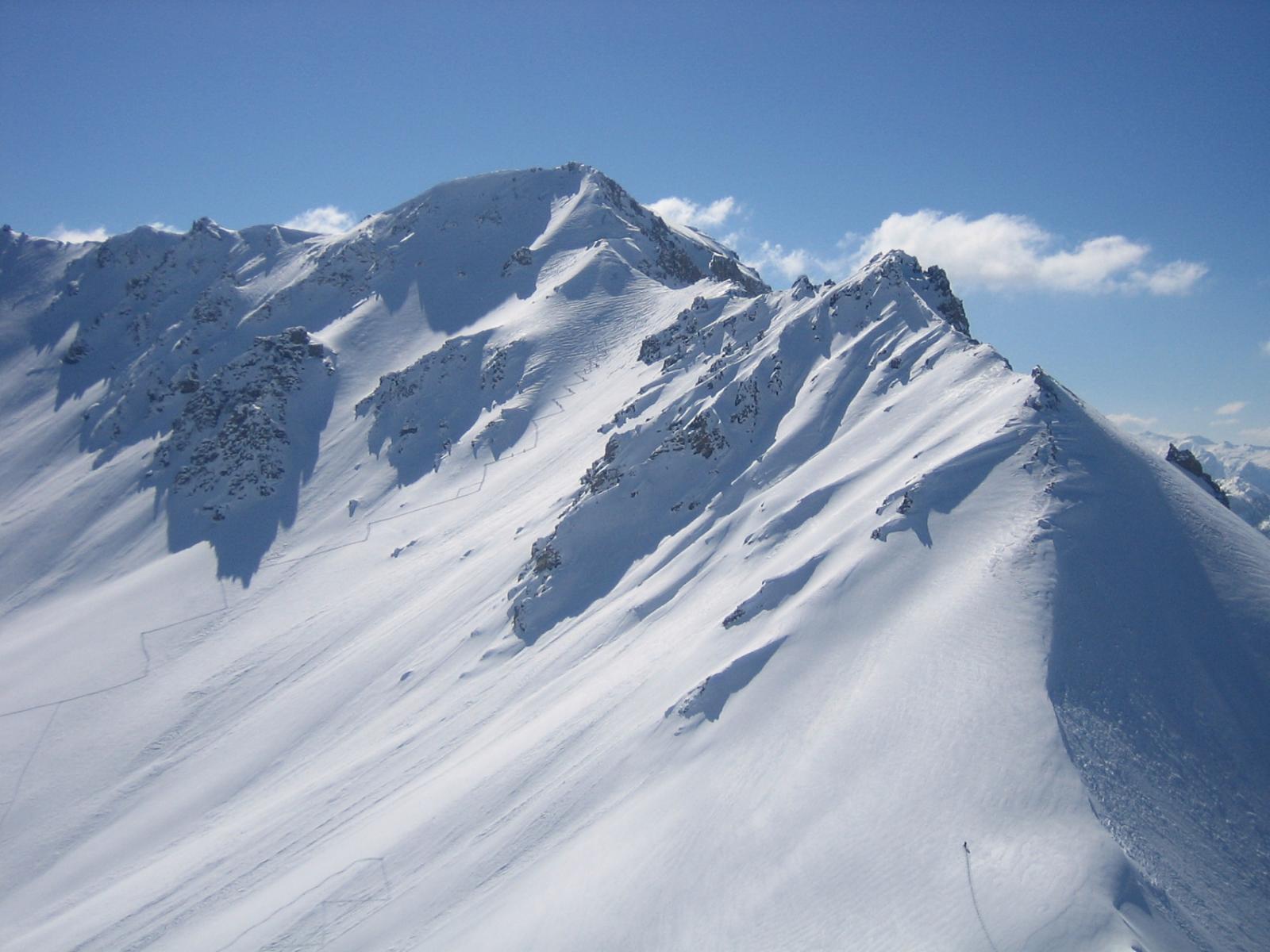 dalla cima: i pendii esposti a nord del Cote Belle