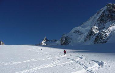 discesa sul ghiacciaio le tour