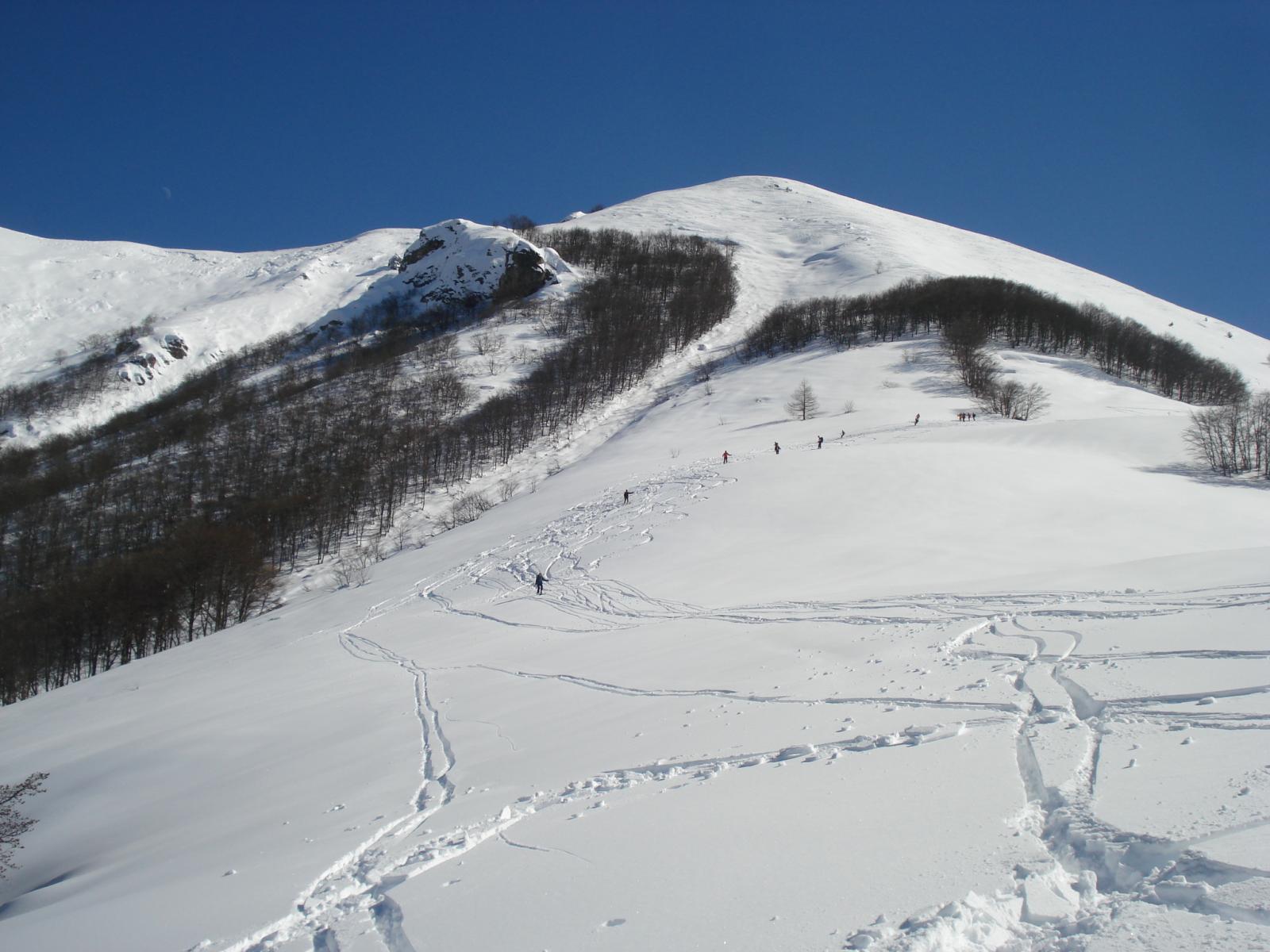 prime curve su neve crostosa