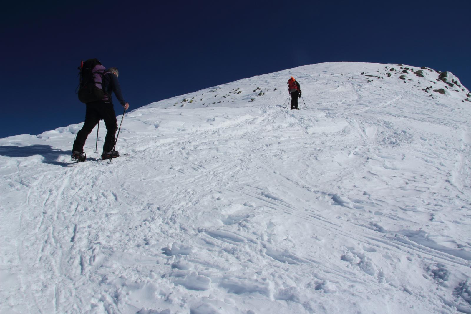 salendo il primo tratto della cresta Ovest del Tochuhorn