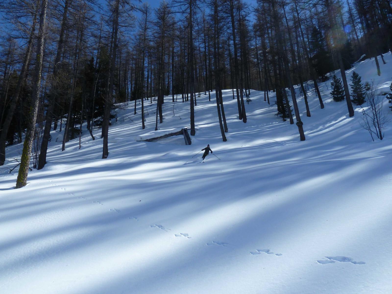 Neve impeccabile anche più in basso