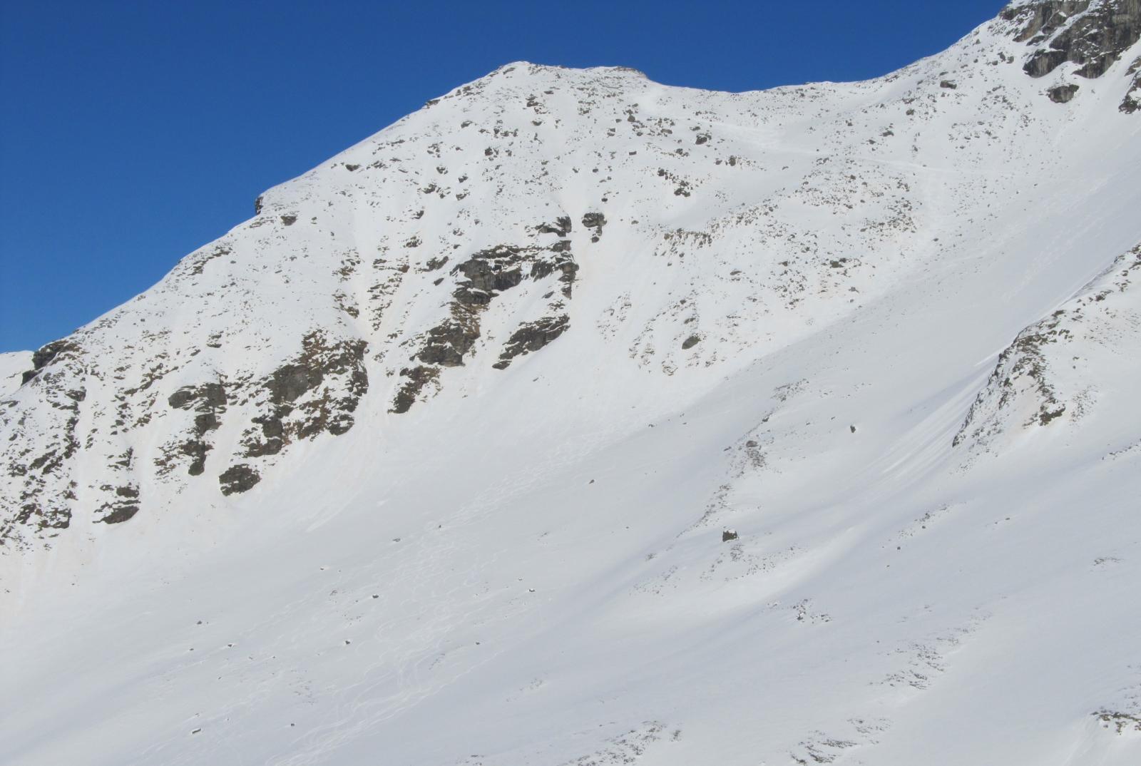 La punta vista dal percorso della Kluppen