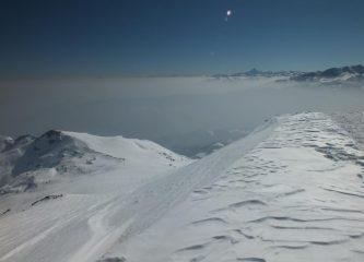 Foschia e smog in pianura
