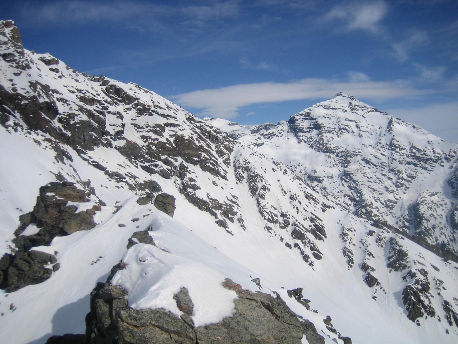 dalla cima: vista sul Niblè