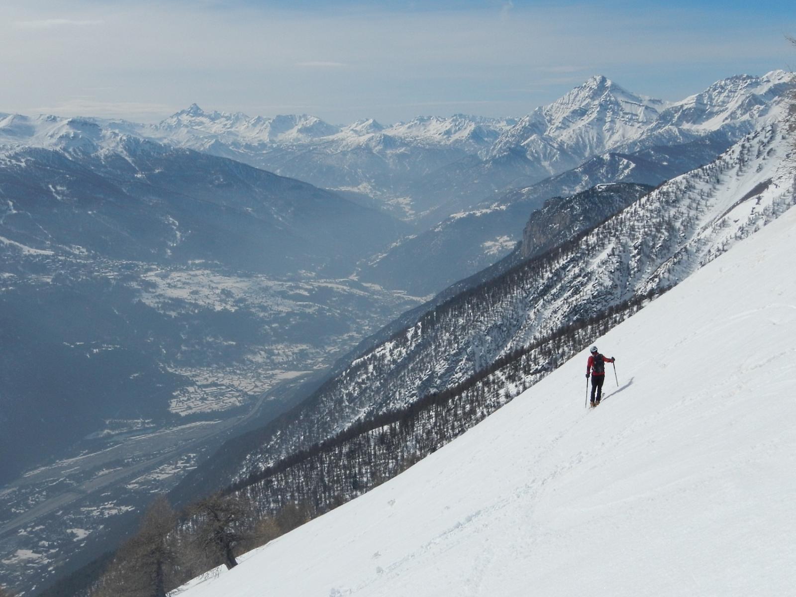 vista sul Pic de Rochebrune e lo Chaberton