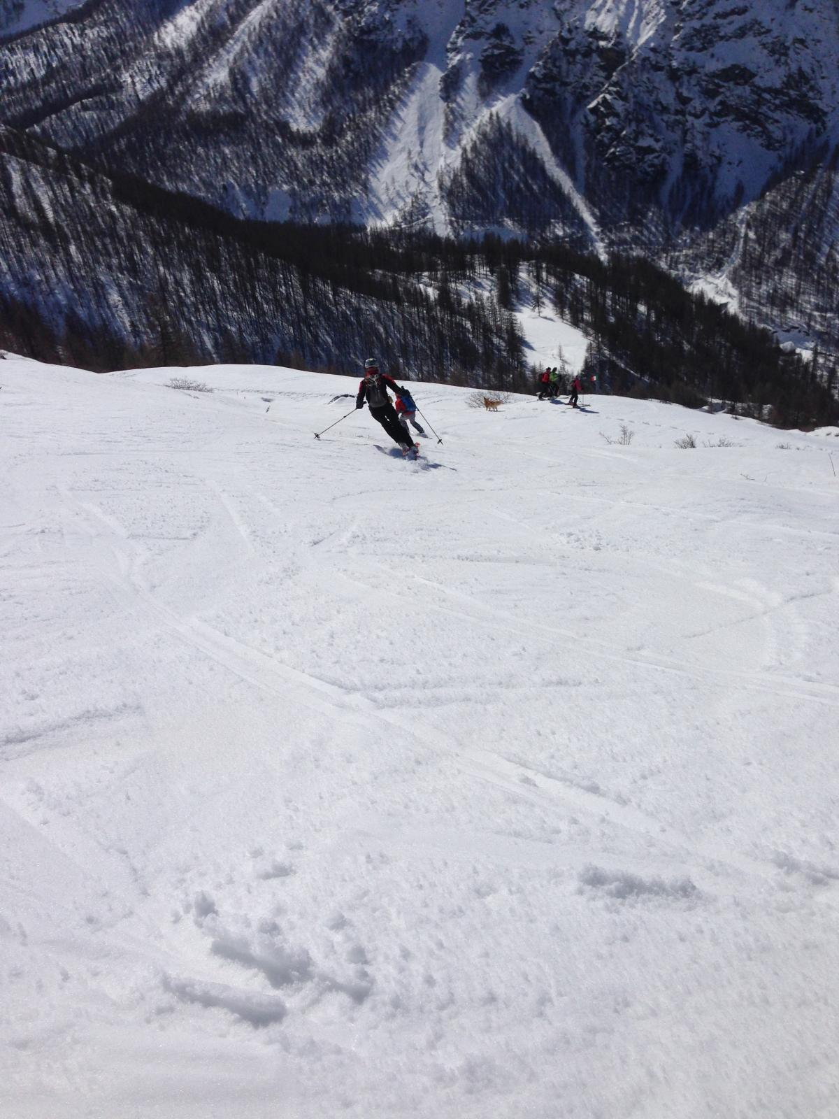 neve perfetta nella parte finale