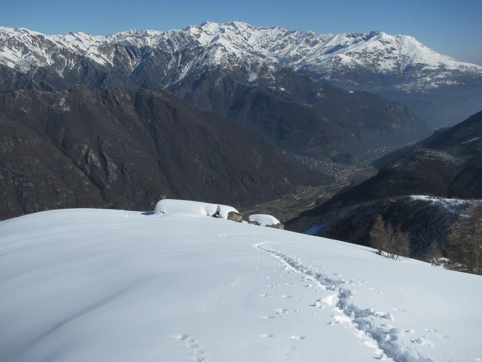 Alpe Traverse e Sparone nel fondovalle