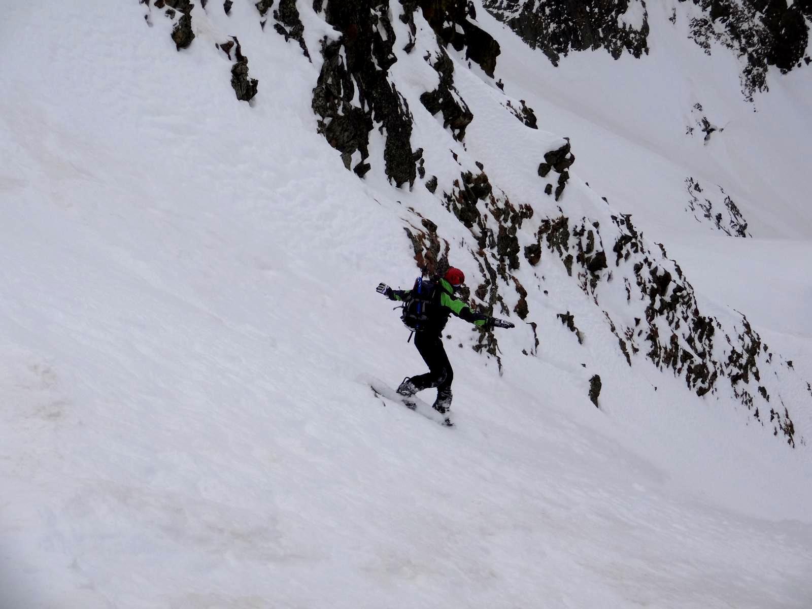 parete Sacilotto, ripida ma neve ottima