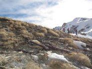 ... si riparte subito per una discesa di 200 m su neve spettacolare