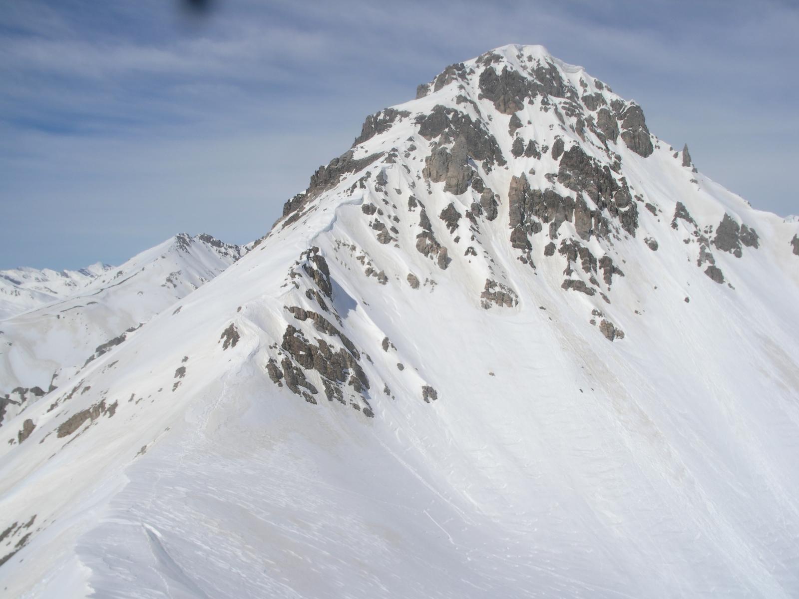 la cresta sud-est al Servagno dal colle omonimo..