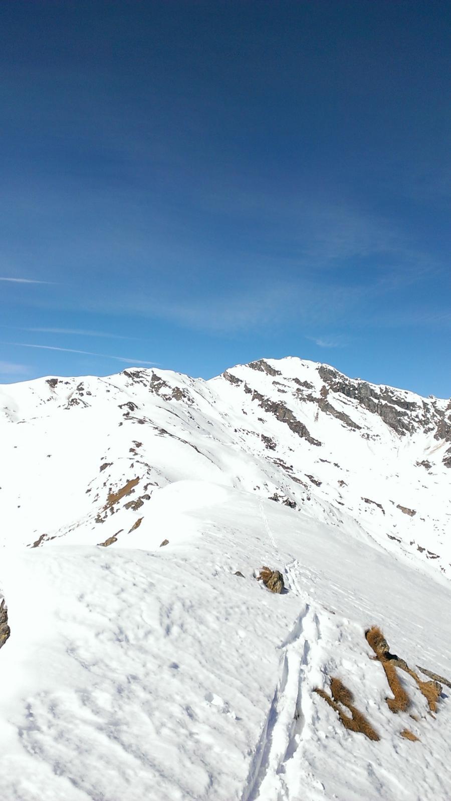 Dalla Biolley, cresta sino alla cima di Bonze
