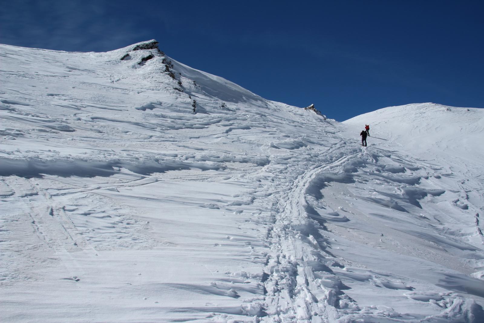 salendo dal Col de Fonteinte verso la cima