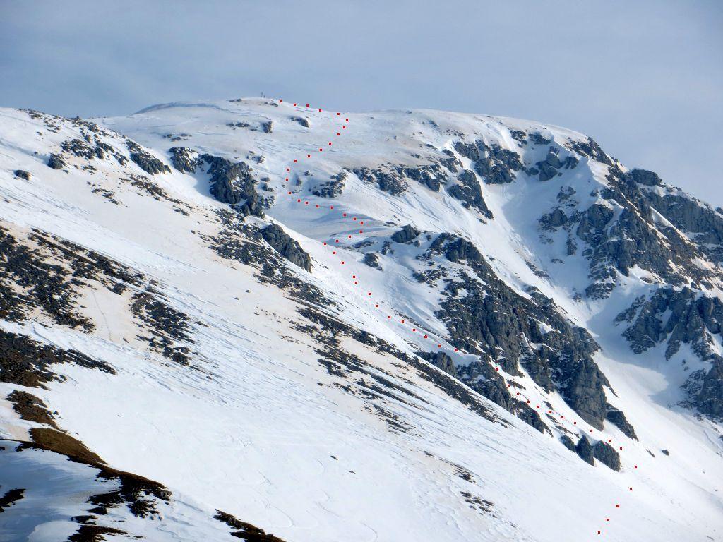 Forcellone (Monte) o Frosilone per la parete NO 2014-03-16