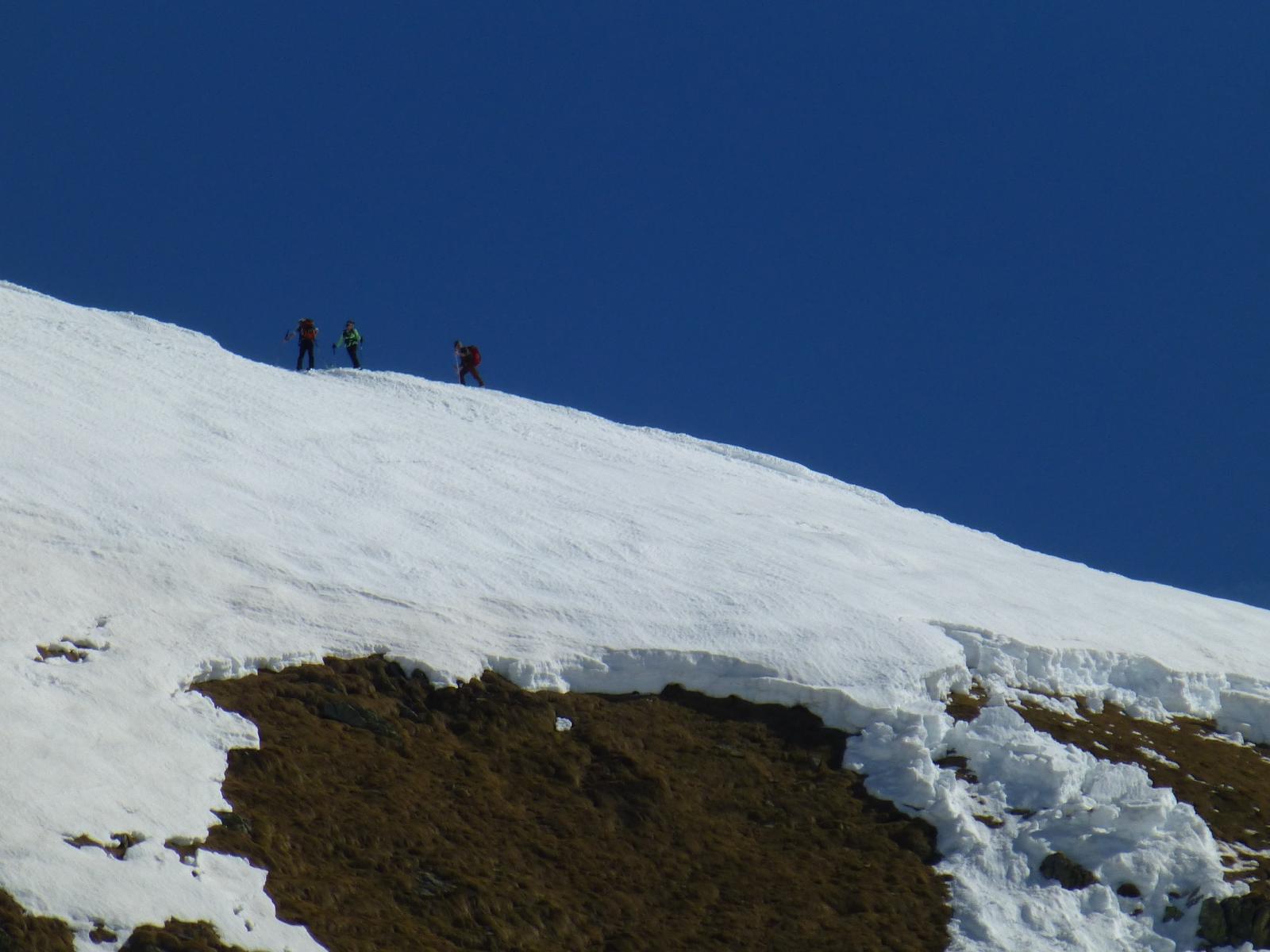 Distacco sotto cresta tra Rocca Maunero e Quota 2387
