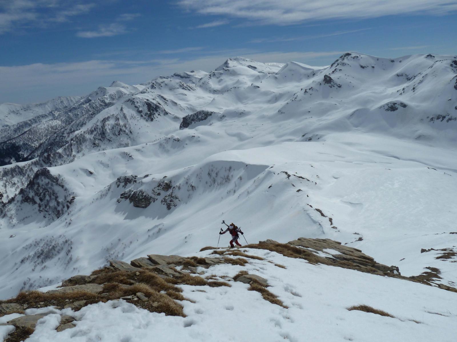 Risalita al Mondolè con finale alpinistico
