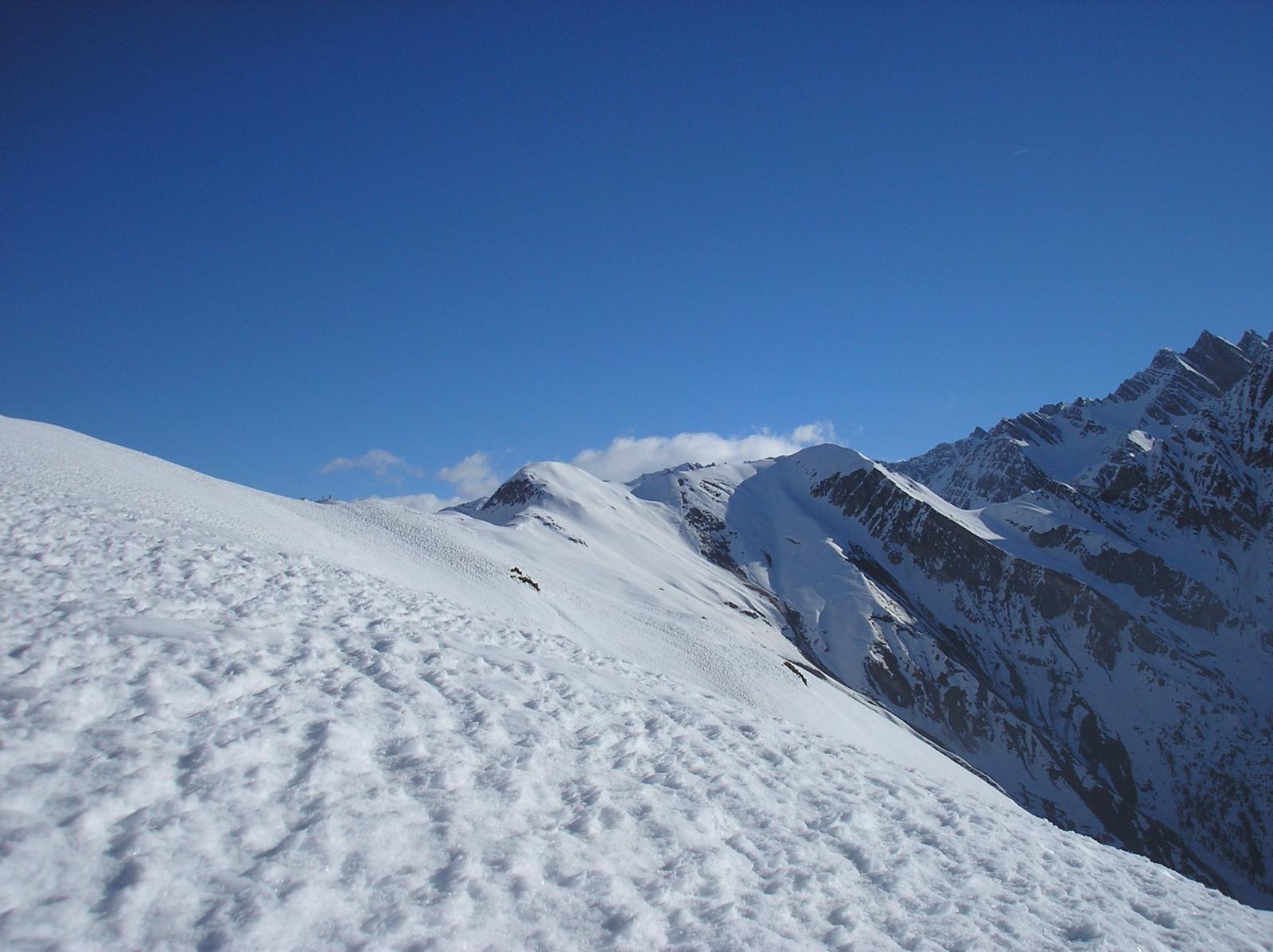 dal monte della saxe si vedono le due cime