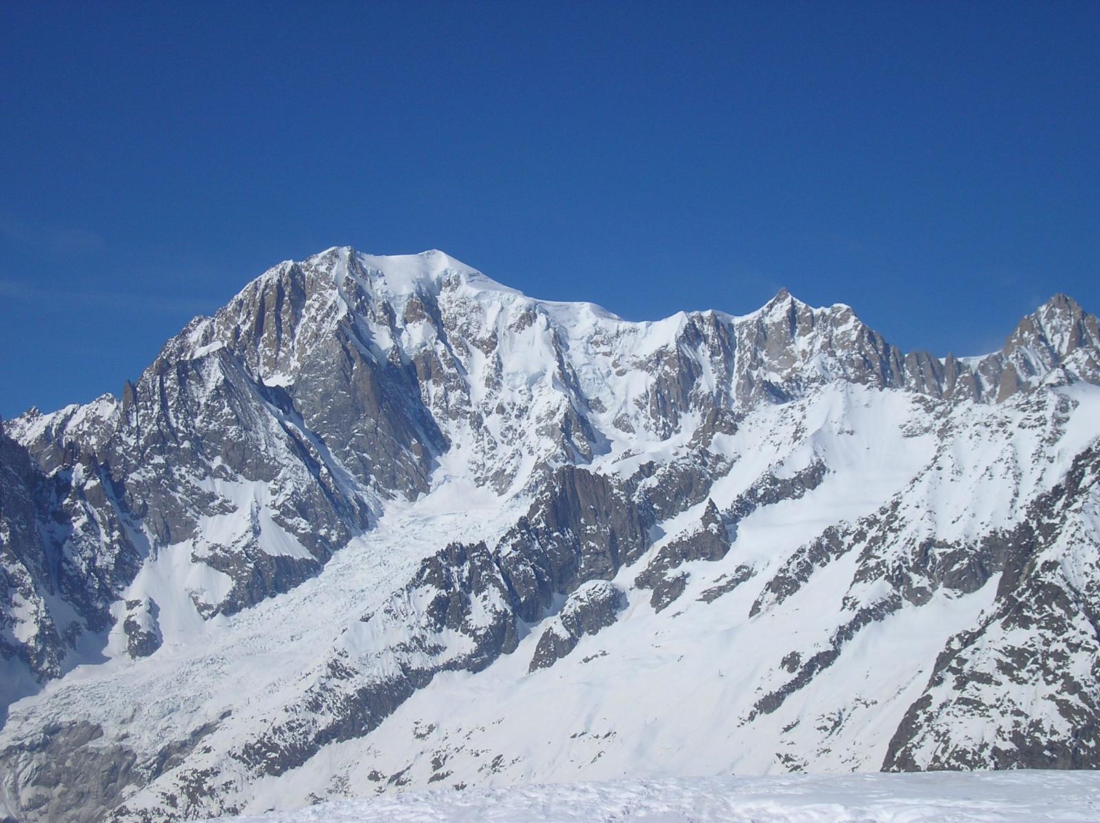 il monte bianco e il monte maudit