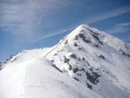 la cima Montu' da meta' cresta NE
