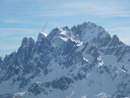 Il Monte Popera visto da M Elmo spunta da dietro idi fianco a cima 11
