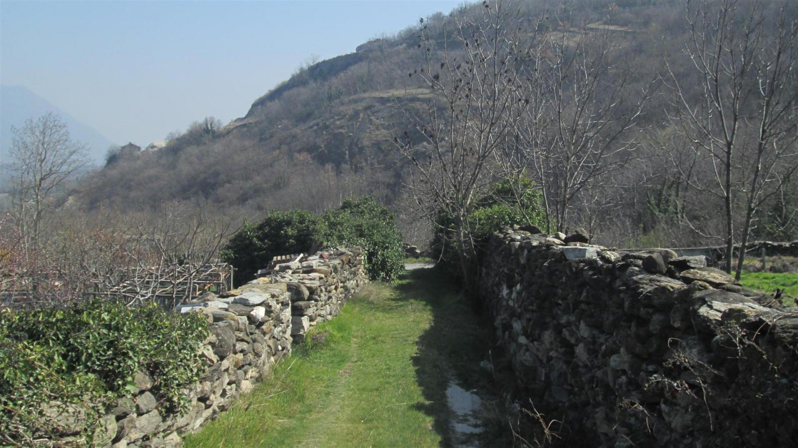 sentiero tra muri a secco