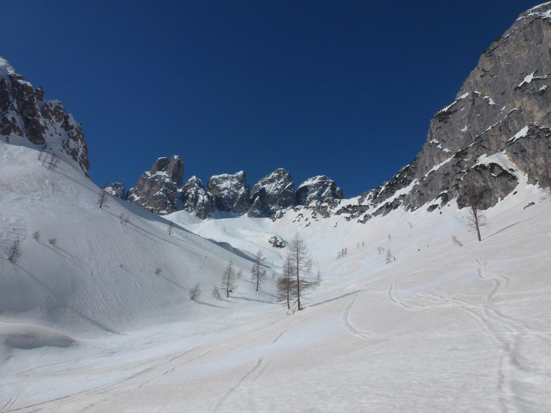Cadin della Neve (Forcella) e Cadin del Nevaio Cadini di Misurina 2014-03-19