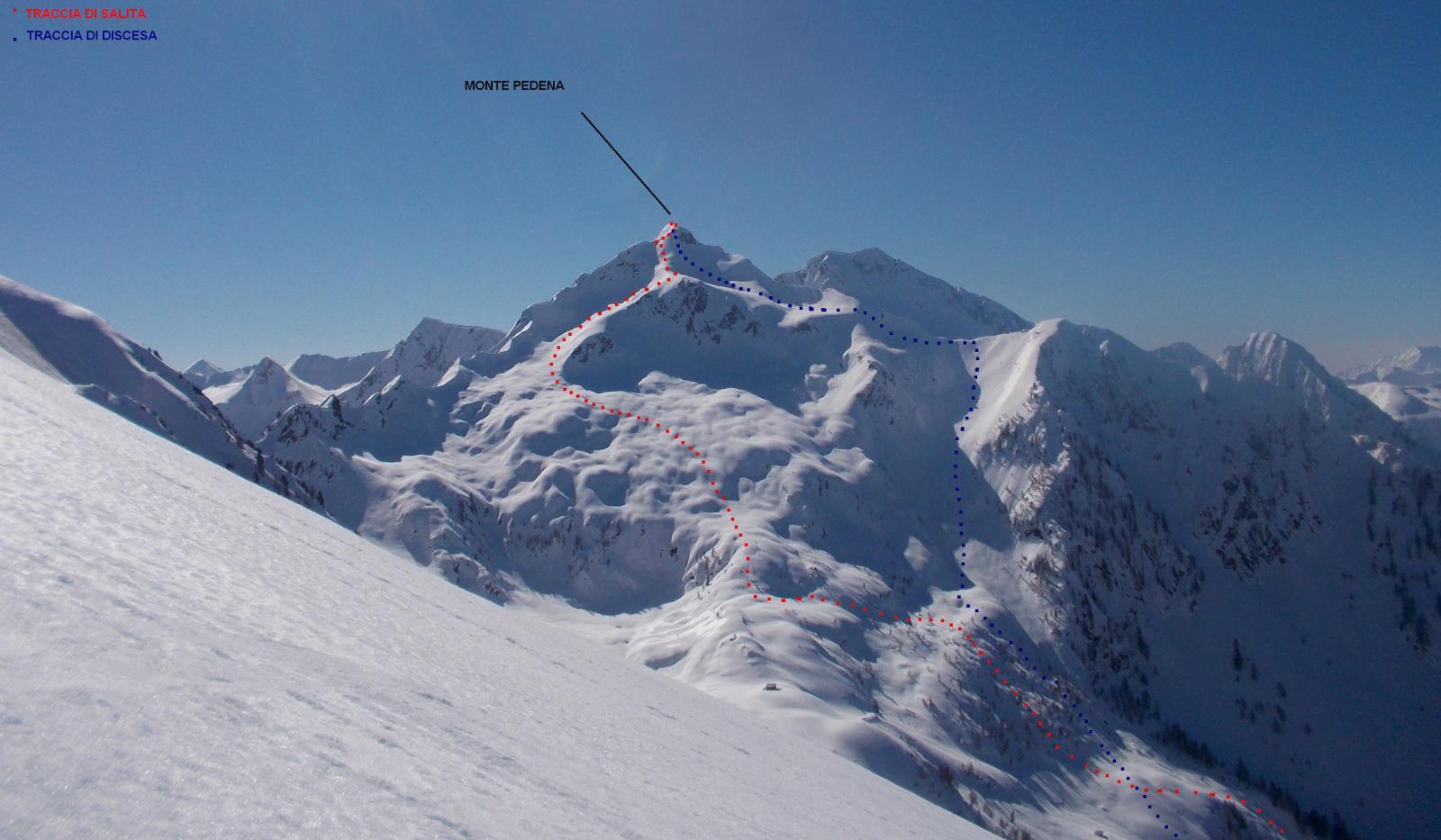 Foto scattata dal sottoscritto il 13 marzo 2014 dalla cresta del Monte Lago