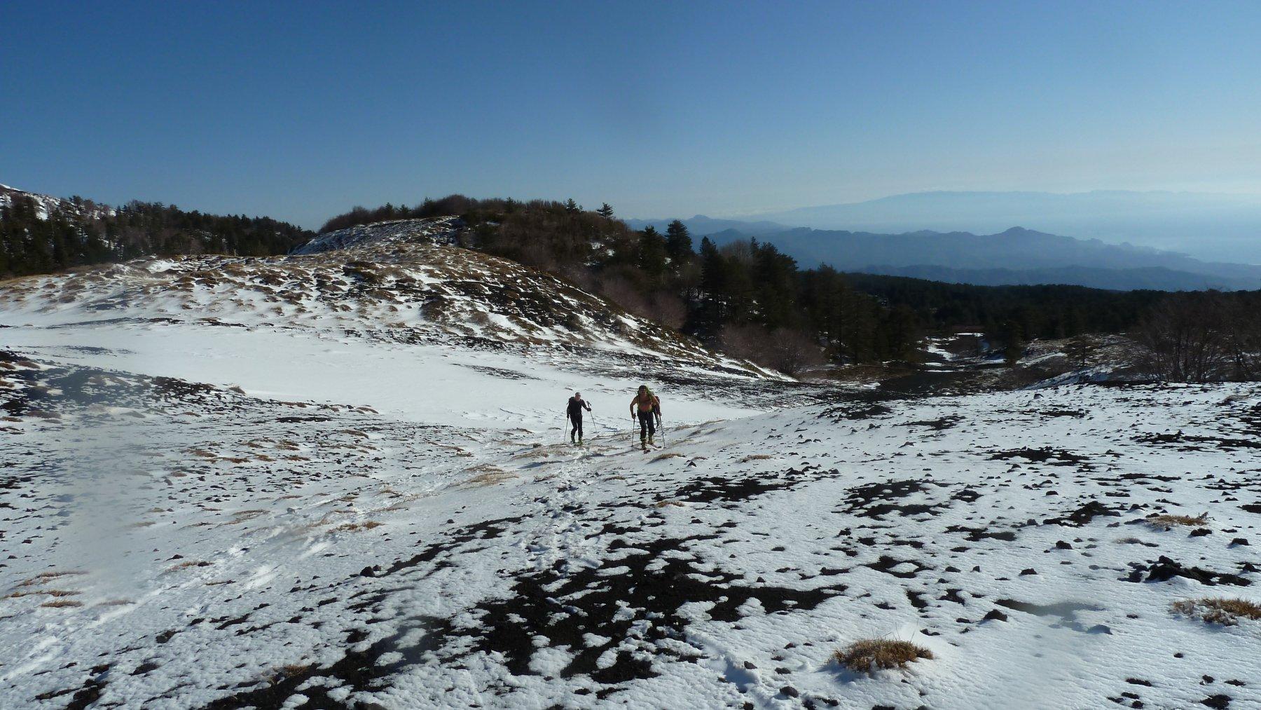 La neve alla partenza