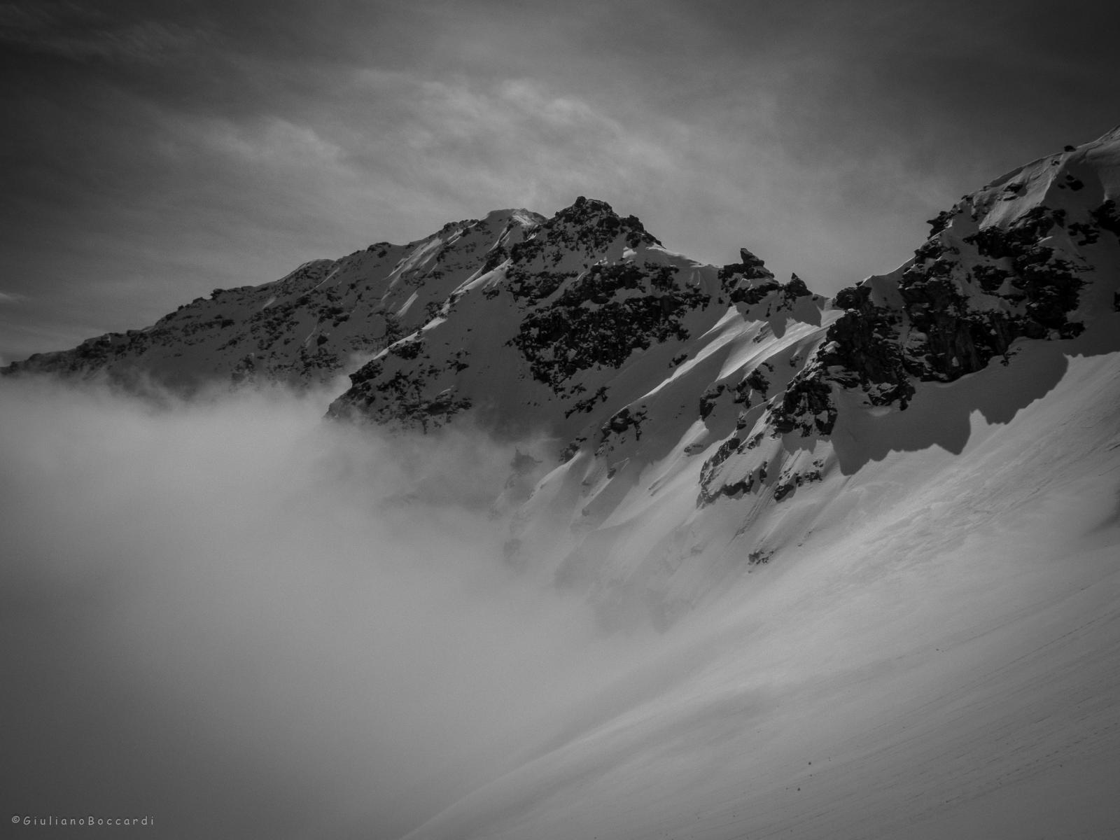 Roc de Bucher tra le nubi