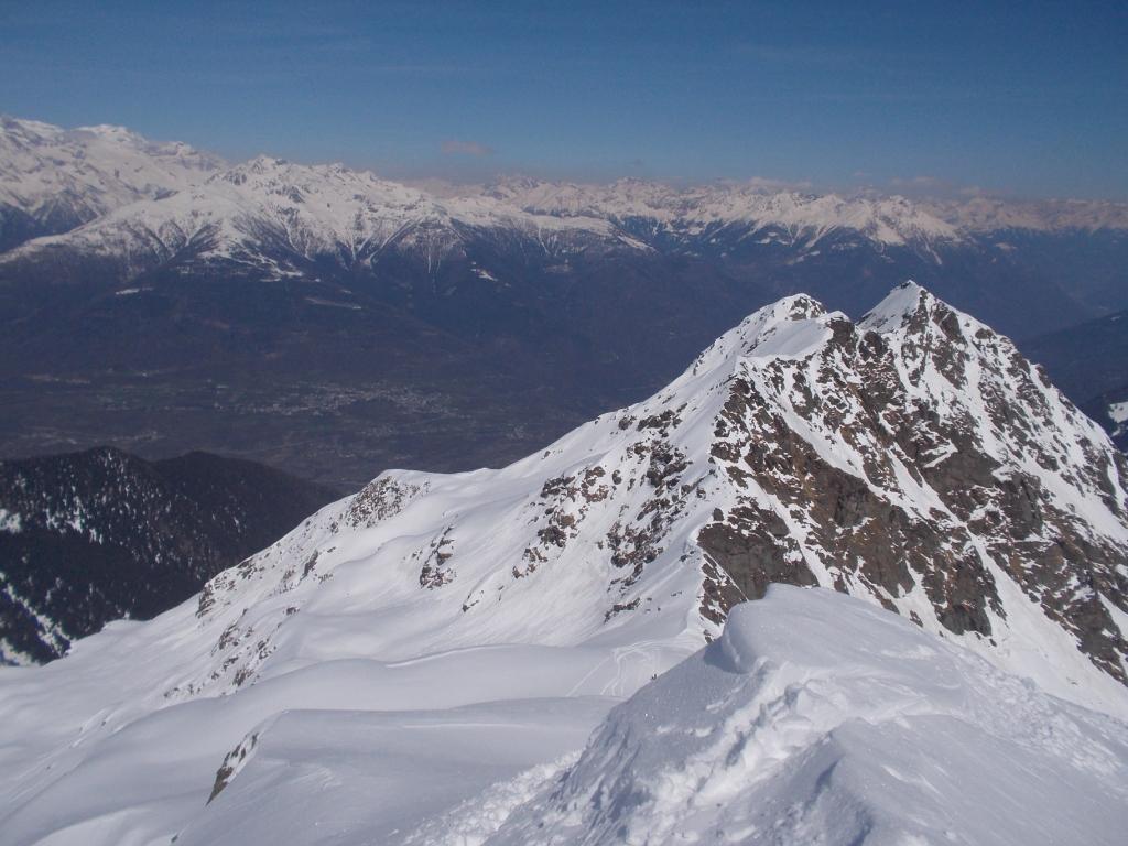 Alla quota 2575 mt guardando il fondovalle