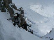 uno dei tanti traversi su neve inconsistente
