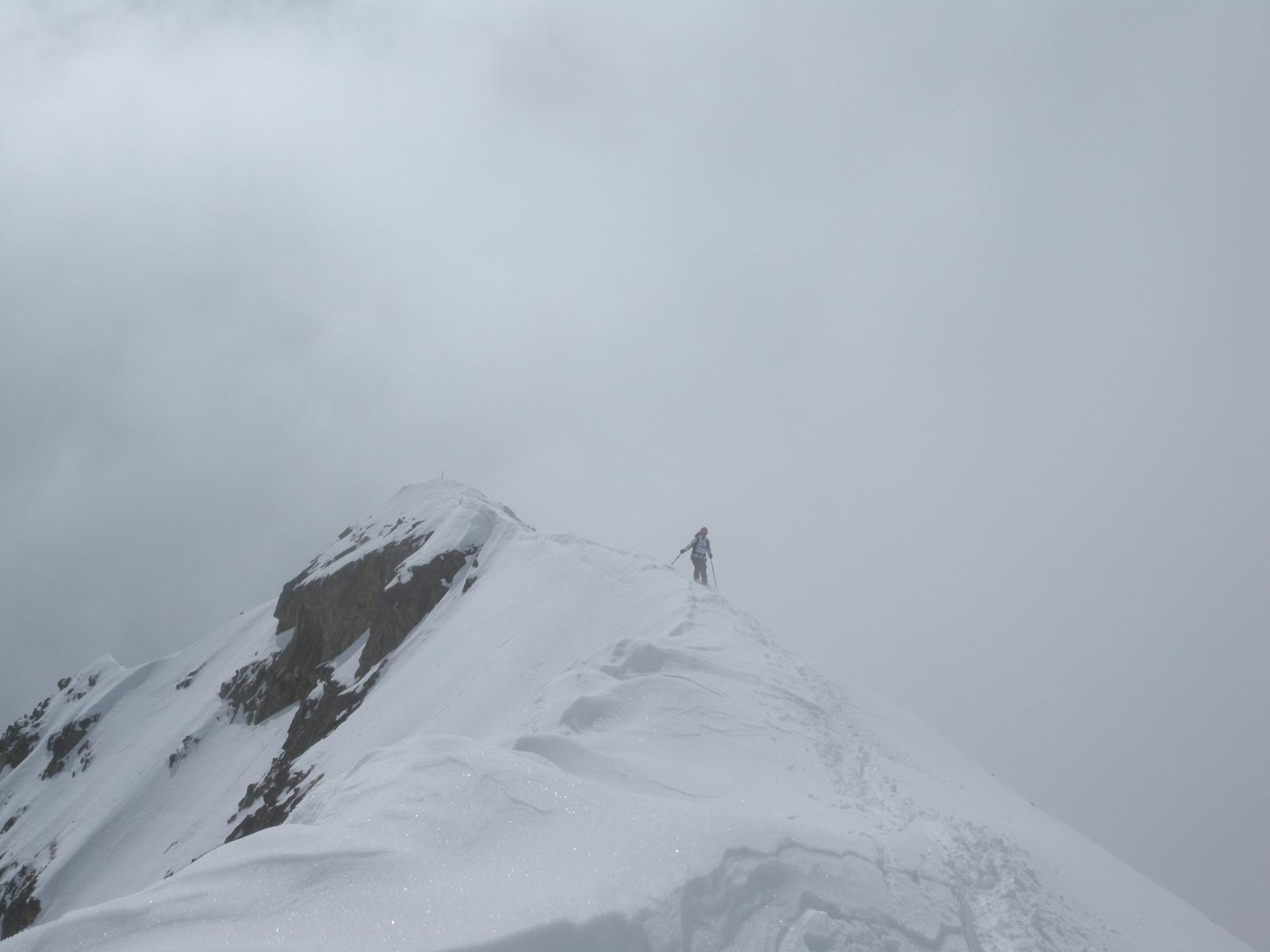 sci dalla vetta