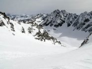 Il ghiacciaio di Valeille dal passo del Teleccio