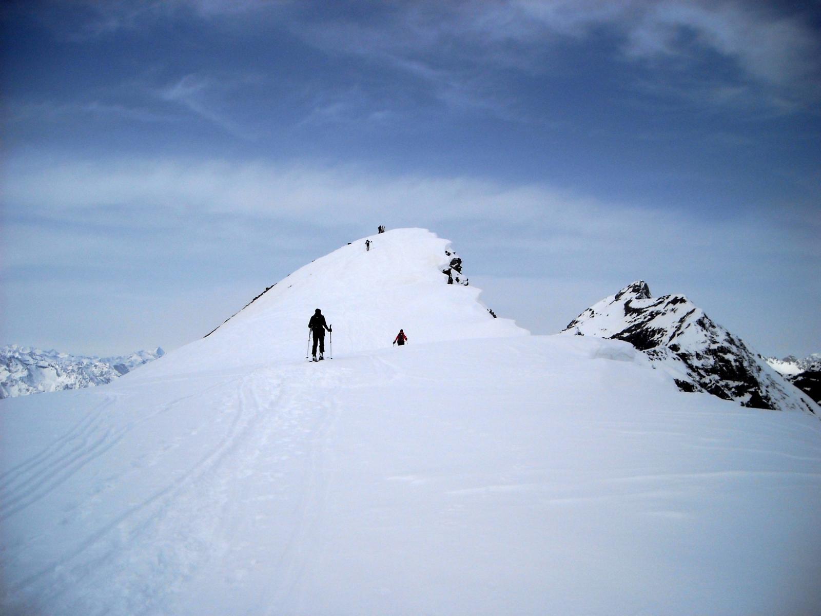 In vista della cima