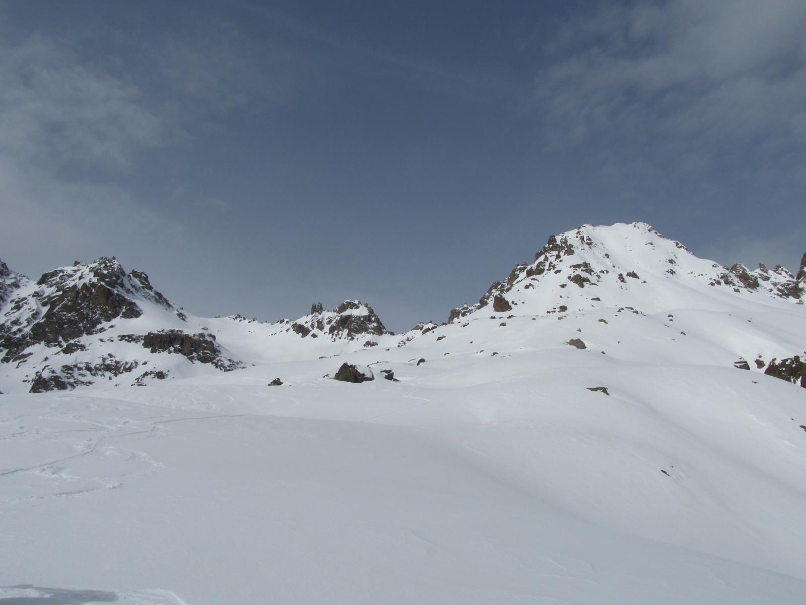 A sx la Breche du Vallon de la Route, a dx le Tete du Vallon.