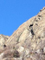 Lo spigolo di sinistra di Rocca Bianca