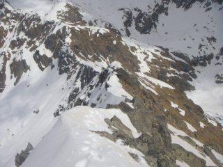 la cresta percorsa dal colletto alla cima