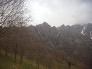 la cresta vista dalla partenza, Gheule al centro